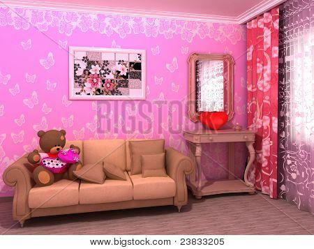 St. Valentine's Day babyroom (childroom)