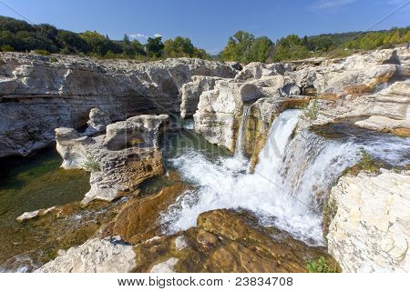 Sautadet Waterfalls In Southern France