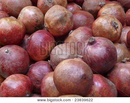 Pomegranates On The Market In Jerusalem