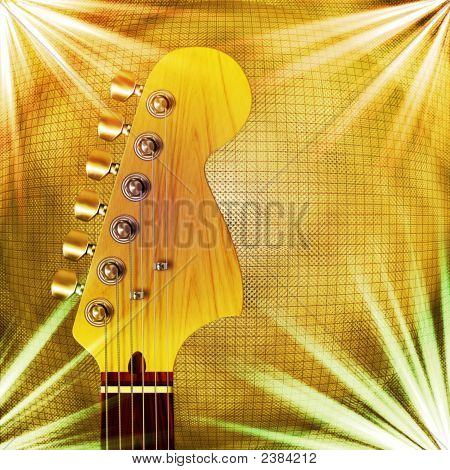 Guitar With Background