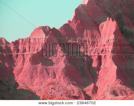 Moods of Nature: Badlands in Red