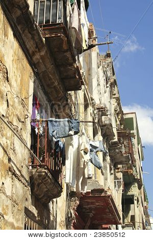 Laundry Drying In Havana