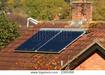 Solar Panel On A House Roof