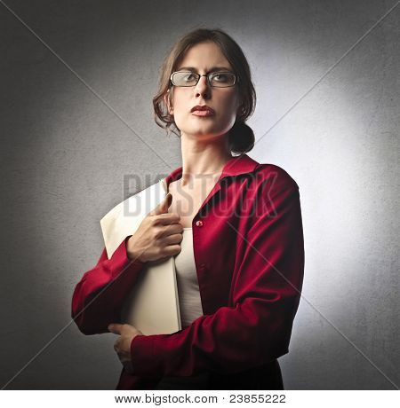 Severe businesswoman