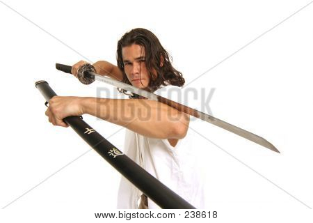 Muscular Guy With Japanese Sword