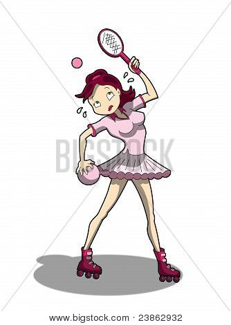 cartoon sport girl