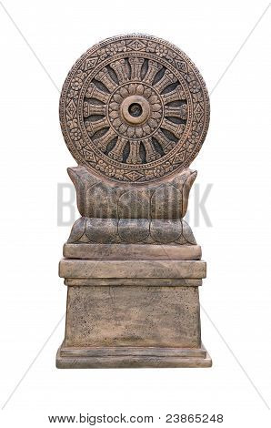Dharma wheel big statue