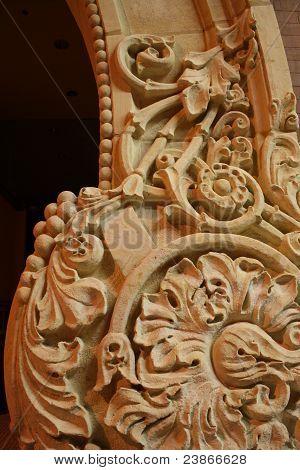 Ornate Scroll Stone Architecture