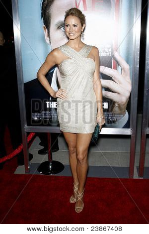 LOS ANGELES - 27 de SEPT: Stacy Keibler al llegar a la