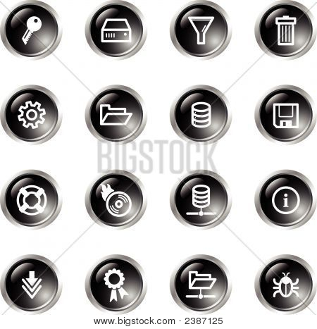 Black Drop Server Icons