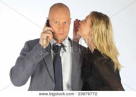 Der Geschäftsmann mit der Frau