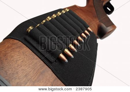 Rifle'S Butt With Cartridges