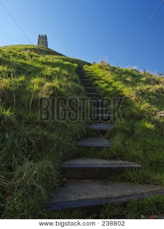 Steps To Glastonbury Tor