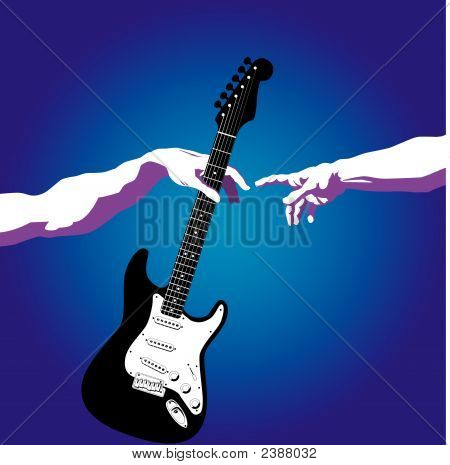 Creation Of Adam Guitar.Eps