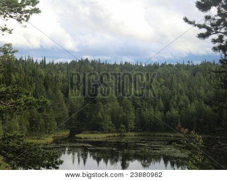 Lake Varatsky in northern Karelia