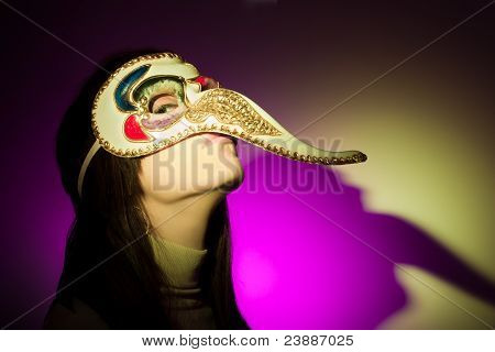 Girl With Big Nosed Mask