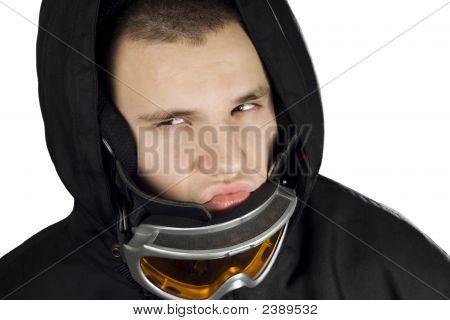 Snowboard Boy Acting Bad
