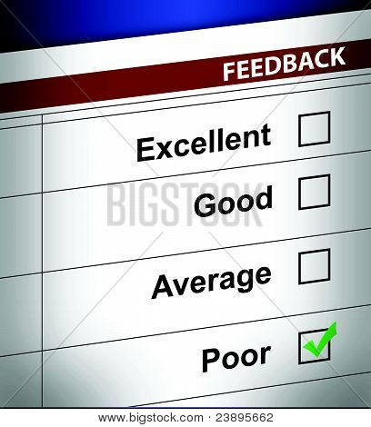 poor business feedback illustration design