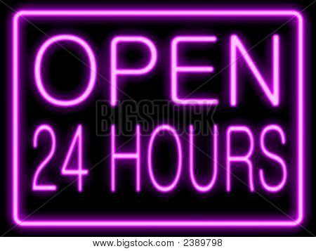 Neon Effect  Open 24 Hours