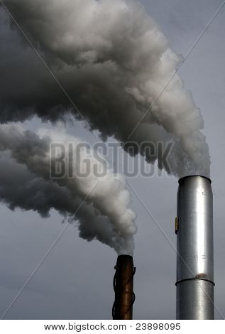 Chimneys smoking