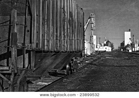 Rusty Old Railcar On A Siding