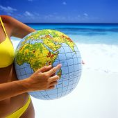 stock photo of liberte  - beach ball - JPG