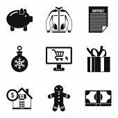 Extremely Cold Icons Set. Simple Set Of 9 Extremely Cold Vector Icons For Web Isolated On White Back poster