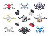Remote Control Flying Copter With Camera. Radio Controllers For Rotor Drone. Unmanned Aircraft Drone poster