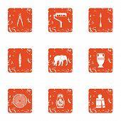 Coating Icons Set. Grunge Set Of 9 Coating Vector Icons For Web Isolated On White Background poster