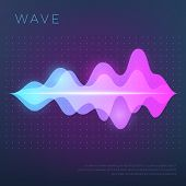 Abstract Music Vector Background With Sound Voice Audio Wave, Equalizer Waveform. Voice Audio, Track poster