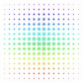 Galaxy Icon Spectrum Halftone Pattern. Vector Galaxy Objects Organized Into Halftone Grid With Verti poster