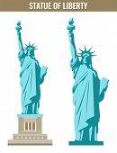 Statue Of Liberty. World Landmark. American Symbol. New York City. Vector Illustration poster