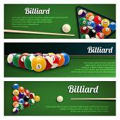 Постер Бильярд Спортивные Игры Баннер Набор