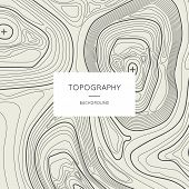 Line Topography Map Contour Background With Space For Text. Abstract Lines Showing Elevation On Grou poster