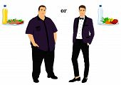 Thin And Fat. Proper Nutrition. From Fat To Thin. Before And After. Healthy Lifestyle. The Man Becom poster