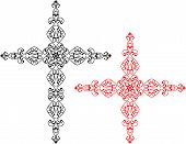 Christian Cross Design, The Symbol Of Christianity Vector Art Illustration poster
