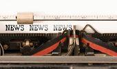 News News News Written On Vintage Manual Typewriter poster