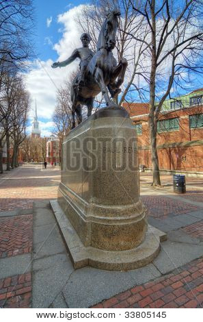Paul Revere Mall in Boston