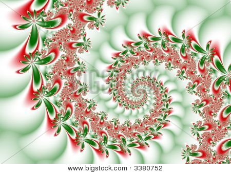 Christmas Flowers Spiral Wave