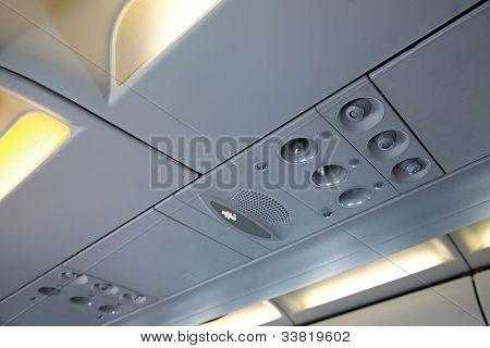 Plane cabin interior detail