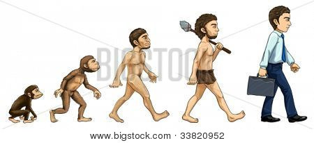 Illustration of the process of evolution