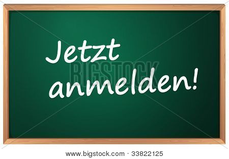 Illustration of Jetzt anmelden sign - EPS VECTOR format also available in my portfolio.