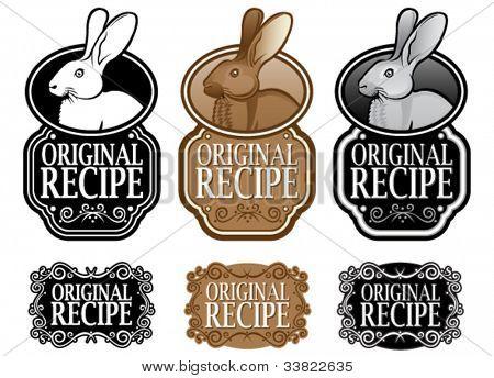 Original Rezept Kaninchen Version vertikale Dichtung