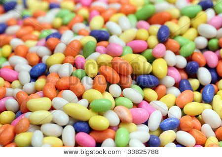 Colorful Sweet Candies(confections) In Many Colors