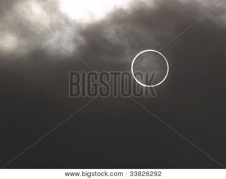 Annular solar eclipse May.21 2012 Tokyo.