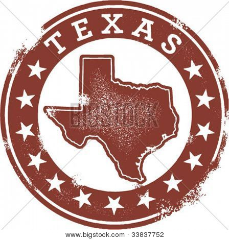 Vintage Style Texas State USA Stamp