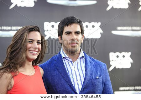 LOS ANGELES - JUN 8: Lorenza Izzo, Eli Roth  at the 'Rock of Ages' Los Angeles premiere held at Grauman's Chinese Theater on June 8, 2012 in Los Angeles, California
