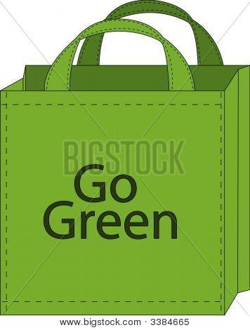 Shopping Bag Go Green.