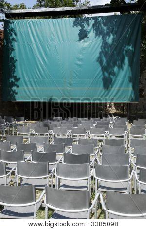 Empty Open Air Cinema
