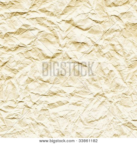Crushed cream-colored paper texture